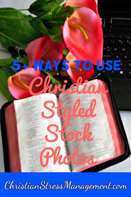 How to use Christian styled stock photos