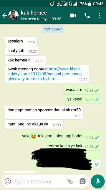 MENANG Giveaway Merdeka by Kisahsidairy.com