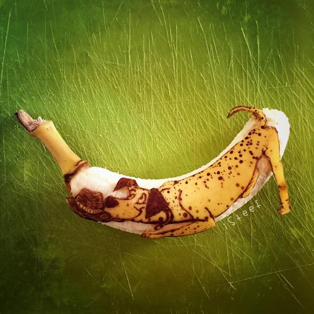 lukisan media pisang paling kreatif unik lucu dan menakjubkan-2
