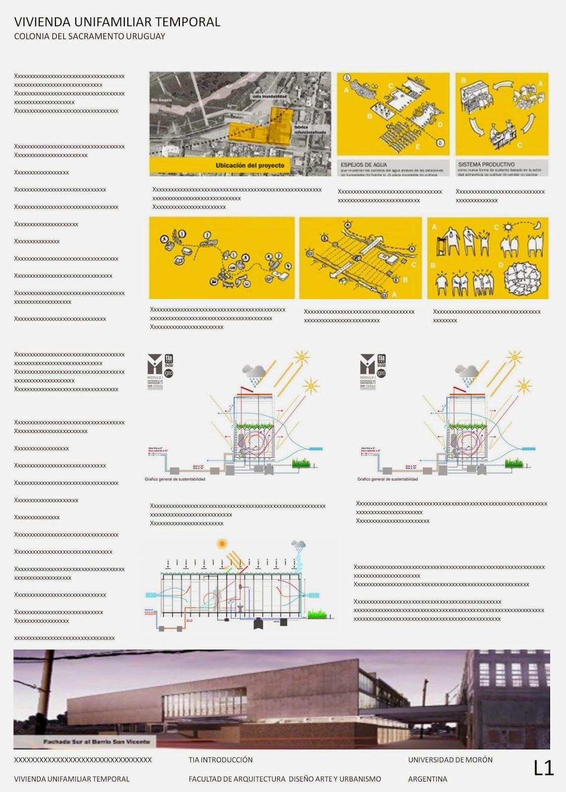 Arquitectura 1 modelo de l minas til for Laminas arquitectura