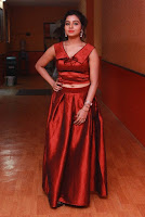 Tamil Actress Anisha Xavier Pos in Red Dress at Pichuva Kaththi Tamil Movie Audio Launch  0006.JPG