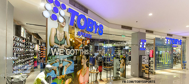 Toby's Sports Store Branches in the Philippines