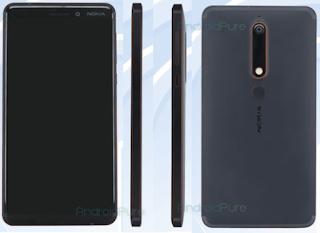 Nokia 6 2018 back