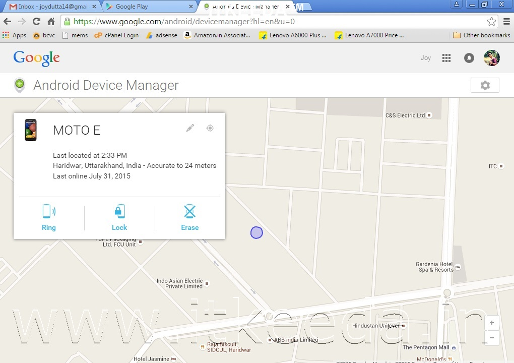 Find your Lost mobile with google 3
