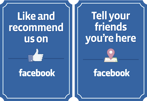 Like Us On Facebook Check In