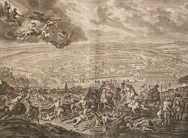 Batalha de Petrovaradin (Jan van Huchtenburg 1647–1733). - Coleção Particular
