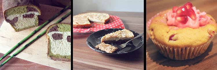 Rezepte • Pandabrot, Tofu-Käsekuchen, Granatapfel Cupcakes