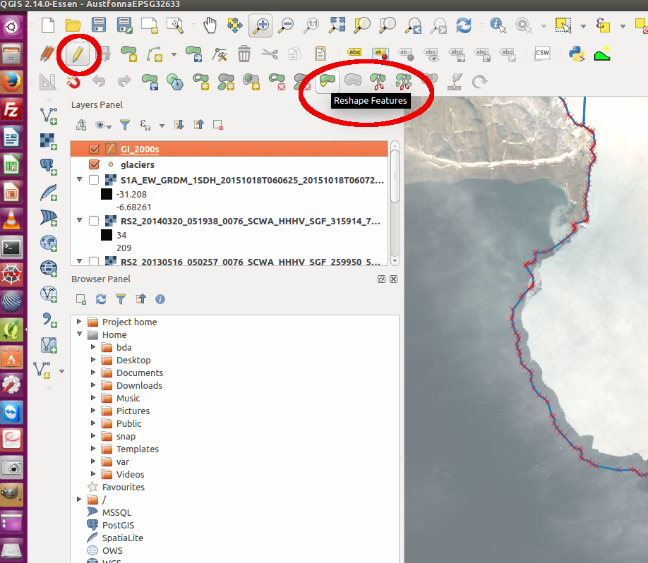 How to join polygon in qgis