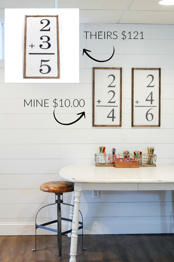 A DIY tutorial for creating handmade flash card wall art for a fraction of the price! - www.littlehouseoffour.com