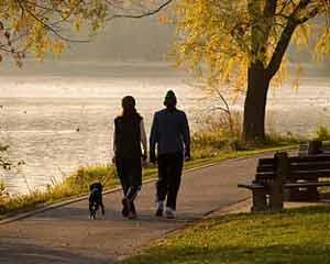 Andar faz bem para a saúde