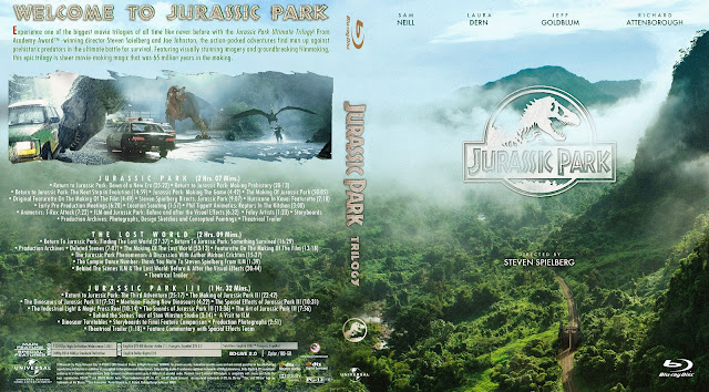 Jurassic Park Trilogy Bluray Cover