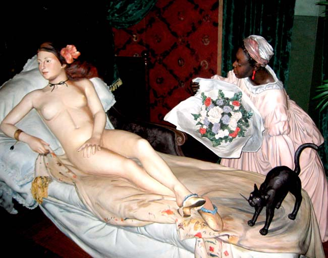 Manet's Olympia 1863 by Seward Johnson