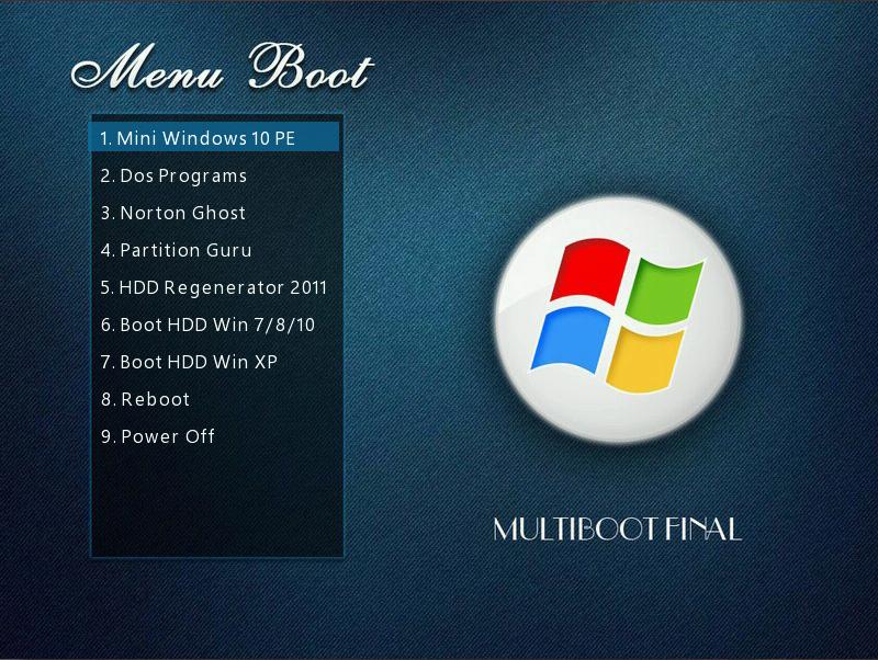 MultiBoot 2016 - Win10PE (x86 + x64) Chuẩn UEFI & Legacy