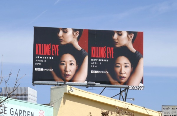 Killing Eve series premiere billboard