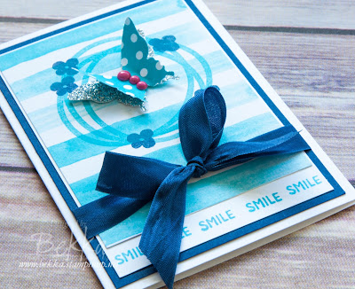 Memories in the Making Smile Card made using Project Life by Stampin' Up! supplies which are available here