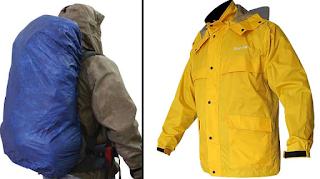Perlengkapan mendaki gunung - Jas hujan dan cover bag