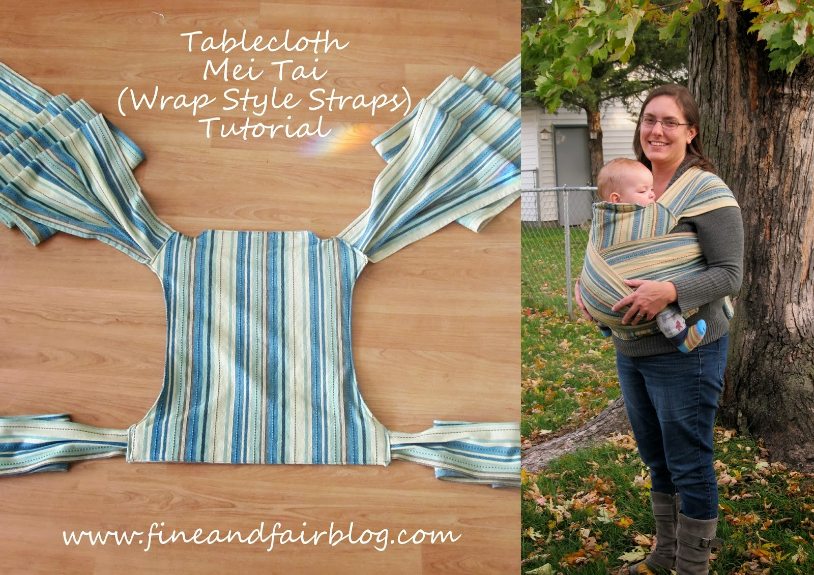 Fine And Fair Tablecloth Mei Tai Tutorial With Wrap Style Straps