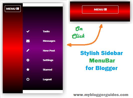 Stylish Menubar for Blogger