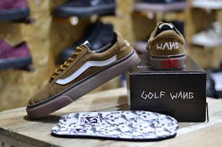 Sepatu Vans Golf Wang Tan Suede Waffle ICC