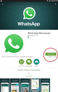 Instalar o whatsapp, como fazer ?