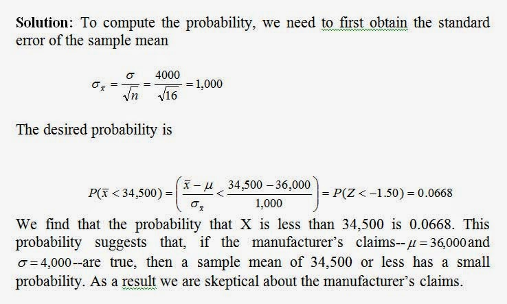 Applied Statistics: Sampling Distributions of Sample Means
