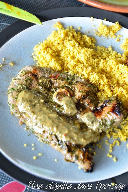Agneau mariné à la coriandre et au miel, de Yotam Ottolenghi cookbook