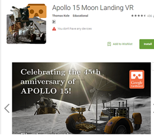 Apollo 15 Moon Landing VR App