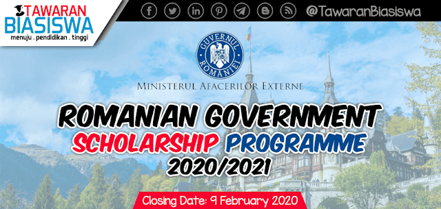 Romanian Government Scholarship Programme 2020/2021
