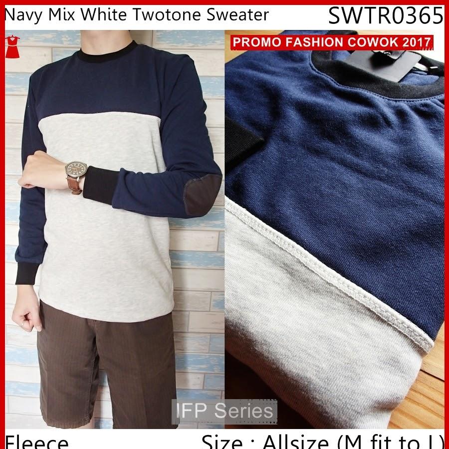 BIMFGP065 White Sweater Casual Fashion Pria PROMO
