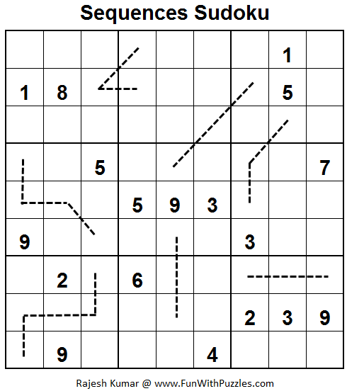 Sequences Sudoku  (Fun With Sudoku #55)