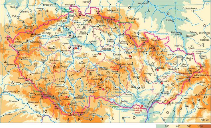 csehország domborzati térkép Csehország, nem csak Prága!: Csehország földrajza   vízrajza csehország domborzati térkép
