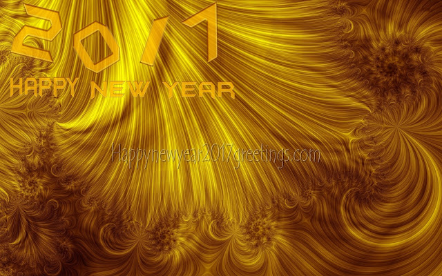 New Year 2017 Golden Background Wallpapers