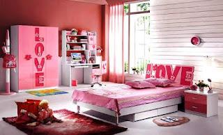 Ide Desain Kamar Perempuan  Anak Cat Warna Pink