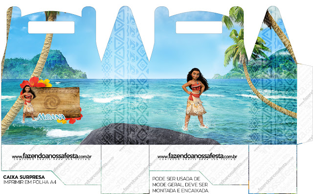Moana Free Printable Lunch Box,