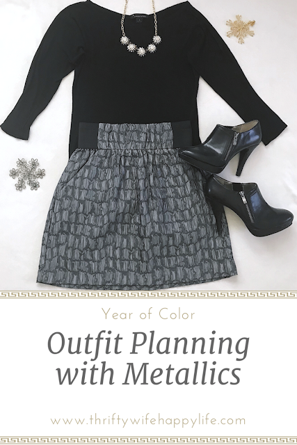 Thrifty Wife, Happy Life- Outfit Planning with Metallics