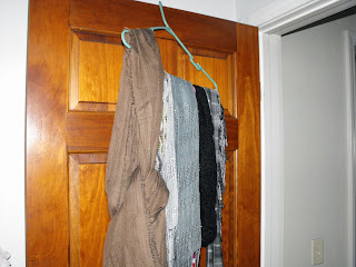 DIY scarf holder