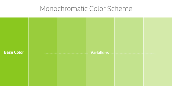 Figure 43 That Color Scheme Uses One Single As Base Allowing We To Use Shades Tints And Tones In Order Create Variations Which Might Be