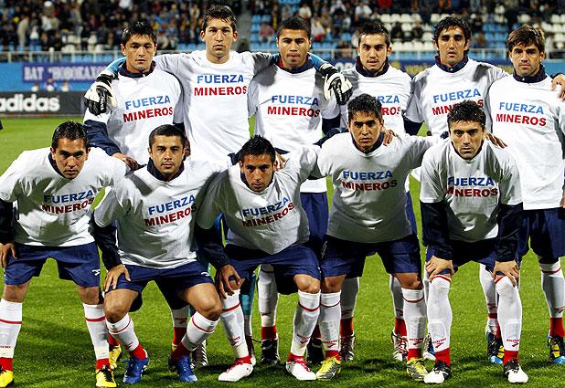 Formación de Chile ante Ucrania, amistoso disputado el 7 de septiembre de 2010