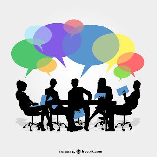 Group meeting image designed by Freepik