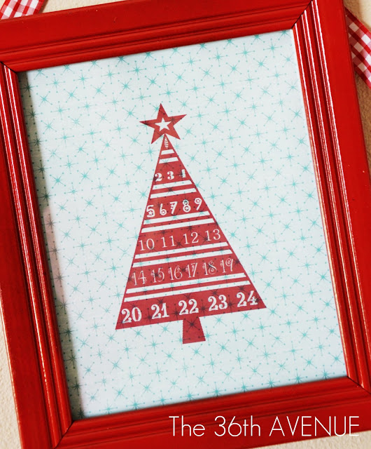 christmas printable advent calendar