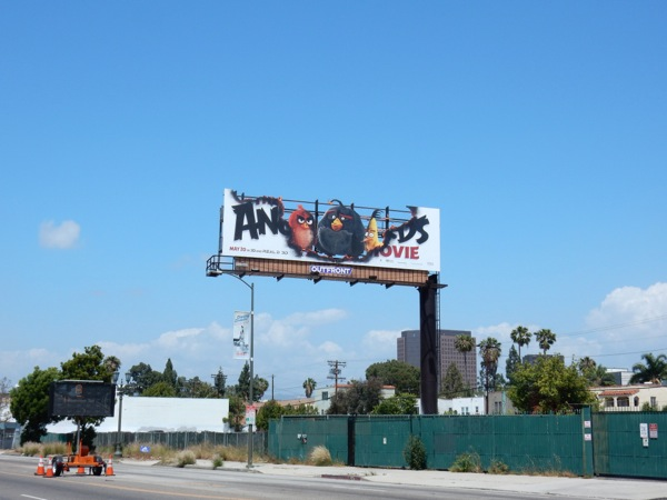 Angry Birds Movie cut-out billboard