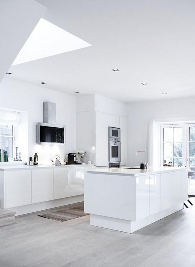 11 cocinas blancas modernas for Cocinas integrales blancas modernas