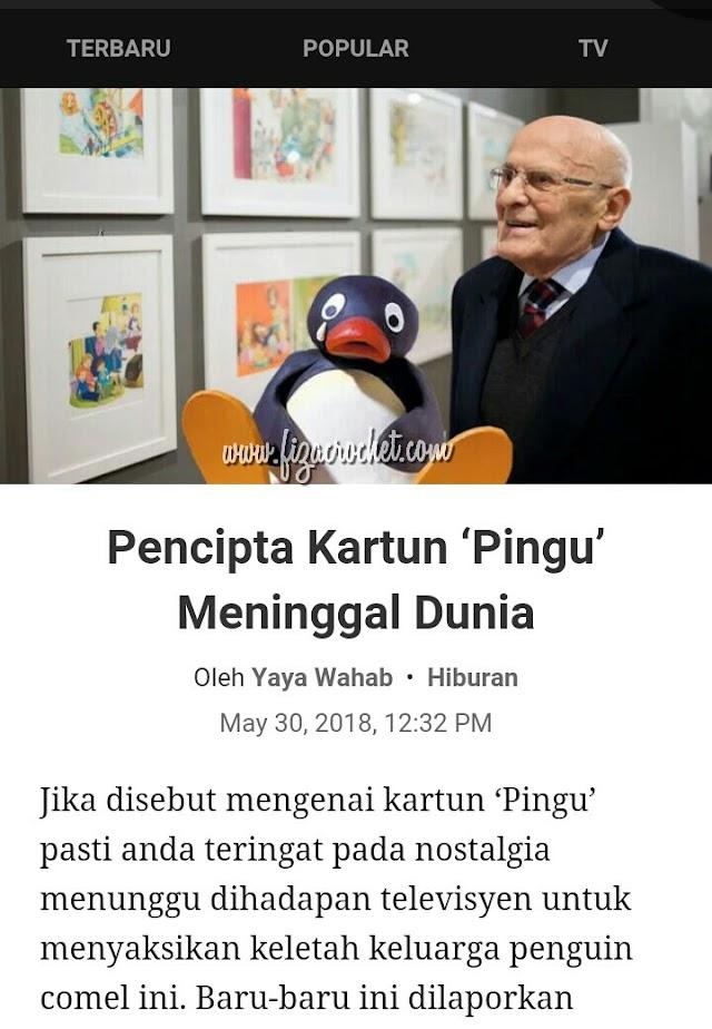 Siapakah pencipta kartun 'Pingu'?