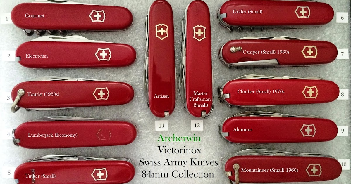 Archerwin S Swiss Army Knives Collection Victorinox 84mm