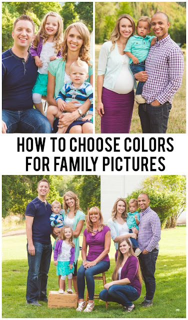 How To Choose Colors for Family Pictures: 7 great tips from a professional to make sure you choose the best colors for your family!