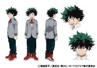 Projekt postaci Izuku Midoriya - jako uczeń