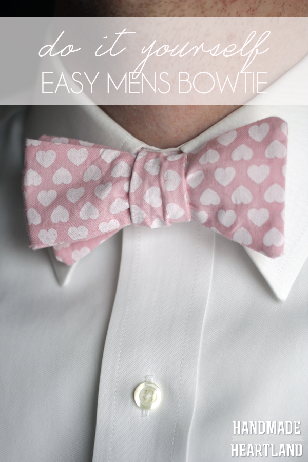 DIY Easy Sew Mens Bowtie Tutorial