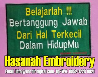Tentang Kami Jasa Bordir Komputer - Hasanah Embroidery