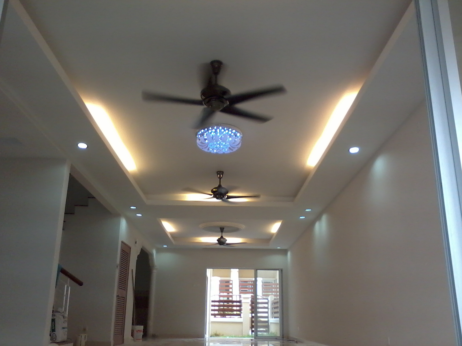 Plaster Siling Specialist Ceiling Sbdice A Moden Dan Pencahayaan Ruang Tamu Di Denai Alam