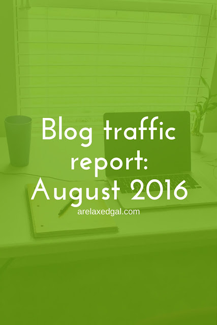 August 2016 blog traffic report | arelaxedgal.com